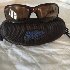 Brown Maui Jim sunglasses